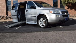 Used Wheelchair Van For Sale: 2007 Chevrolet Uplander LT Wheelchair Accessible Van For Sale with a BraunAbility - Chevrolet Entervan on it. VIN: 1GBDV13167D116999