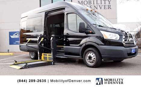 Used Wheelchair Van For Sale: 2018 Ford Transit SE Wheelchair Accessible Van For Sale with a BraunAbility Power Side Entry Lift on it. VIN: 1FBVU4XM7JKA27877