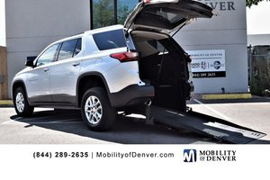 Used Wheelchair Van For Sale: 2018 Chevrolet Traverse L Wheelchair Accessible Van For Sale with a FMI  Full-Cut Manual Rear Entry on it. VIN: 1GNERGKW0JJ226354