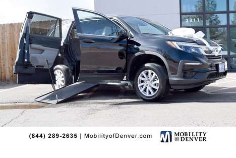 Used Wheelchair Van For Sale: 2019 Honda Pilot LX Wheelchair Accessible Van For Sale with a VMI NorthStar E Manual In-Floor Side Entry on it. VIN: 5FNYF5H15KB005761