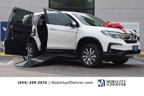 New Wheelchair Van For Sale: 2019 Honda Pilot EX Wheelchair Accessible Van For Sale with a  on it. VIN: 5FNYF5H34KB023699