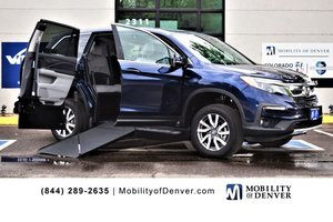 New Wheelchair Van For Sale: 2019 Honda Pilot S Wheelchair Accessible Van For Sale with a VMI NorthStar E Manual Side Entry on it. VIN: 5FNYF5H36KB022988