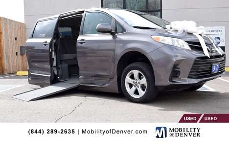 Used Wheelchair Van For Sale: 2019 Toyota Sienna LE Wheelchair Accessible Van For Sale with a VMI NorthStar Power Side Entry on it. VIN: 5TDKZ3DC0KS983931