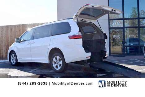 Used Wheelchair Van For Sale: 2020 Toyota Sienna LE Wheelchair Accessible Van For Sale with a FMI Long Channel Manual Rear Entry on it. VIN: 5TDKZ3DC3LS054897