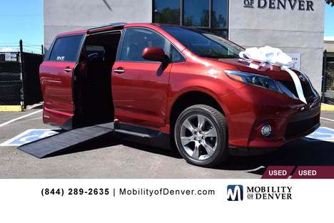 Used Wheelchair Van For Sale: 2015 Toyota Sienna SE Wheelchair Accessible Van For Sale with a  on it. VIN: 5TDXK3DCXFS534949