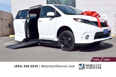 Used Wheelchair Van For Sale: 2015 Toyota Sienna SE Wheelchair Accessible Van For Sale with a VMI NorthStar Power In-Floor Side Entry on it. VIN: 5TDXK3DCXFS558328