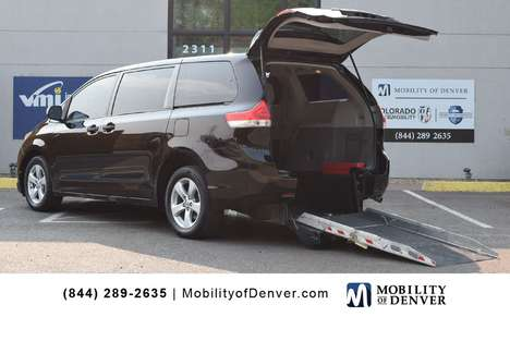 Used Wheelchair Van For Sale: 2014 Toyota Sienna L Wheelchair Accessible Van For Sale with a MobilityWorks ADA Short Channel Manual Rear Entry on it. VIN: 5TDZK3DC1ES486586