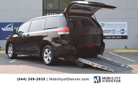 Used Wheelchair Van For Sale: 2014 Toyota Sienna L Wheelchair Accessible Van For Sale with a MobilityWorks ADA Short Channel Manual Rear Entry on it. VIN: 5TDZK3DC2ES488847