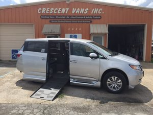 Used Wheelchair Van For Sale: 2015 Honda Odyssey EX Wheelchair Accessible Van For Sale with a BraunAbility Entervan II on it. VIN: 5FNRL5H46FB040208