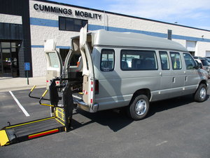 Used Wheelchair Van For Sale: 2006 Ford Econoline LT Wheelchair Accessible Van For Sale with a Non Branded Wheelchair Lift & Tiedowns on it. VIN: 1FBSS31L76DA95501
