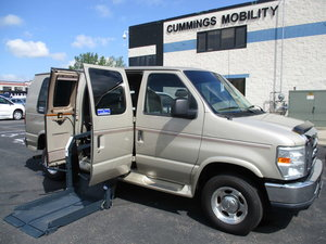 Used Wheelchair Van For Sale: 2008 Ford Econoline  Wheelchair Accessible Van For Sale with a Non Branded Wheelchair Lift & Tiedowns on it. VIN: 1FDNE14L38DA15920