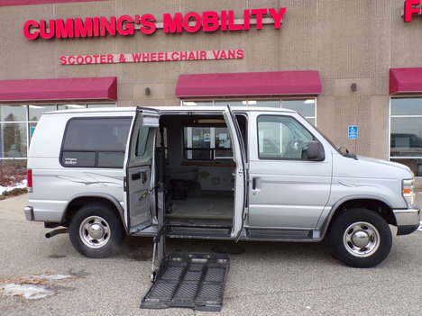 Used Wheelchair Van For Sale: 2008 Ford Econoline XL Wheelchair Accessible Van For Sale with a Rollx Vans Rollx Full Size Ford on it. VIN: 1FDNE24LX8DB17740
