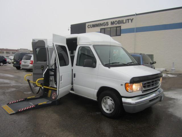 2002 ford econoline wagon e 150 wheelchair van for sale full size vin 1fmre11l52hb42948. Black Bedroom Furniture Sets. Home Design Ideas