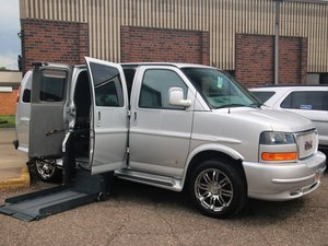 Used Wheelchair Van For Sale: 2014 GMC Savana  Wheelchair Accessible Van For Sale with a Rollx Vans Rollx Full Size General Motors on it. VIN: 1GD S8DC4 0E1 161114