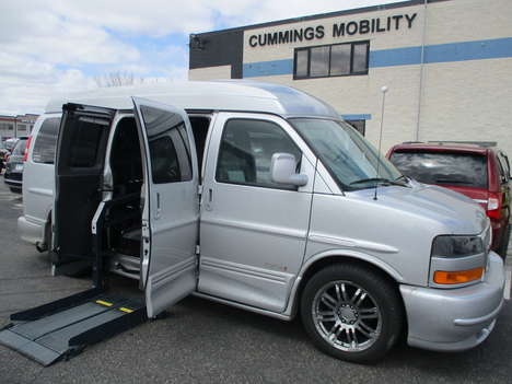 Used Wheelchair Van For Sale: 2014 GMC Savana S Wheelchair Accessible Van For Sale with a Non Branded Wheelchair Lift & Tiedowns on it. VIN: 1GDS8DC48E1165119