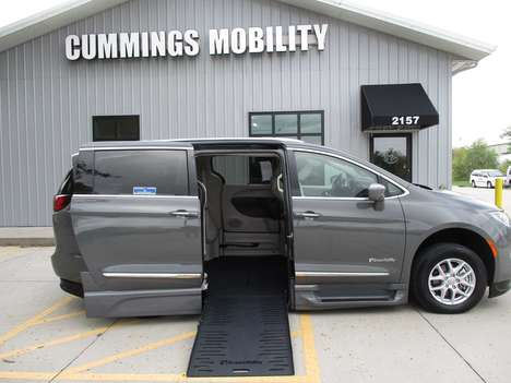 New Wheelchair Van For Sale: 2020 Chrysler Pacifica Touring Wheelchair Accessible Van For Sale with a BraunAbility Chrysler Pacifica Foldout XT on it. VIN: 2C4RC1BG0LR232655