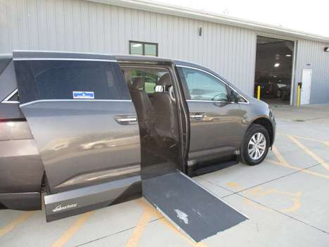 Used Wheelchair Van For Sale: 2014 Honda Odyssey EX-L Wheelchair Accessible Van For Sale with a VMI Honda Northstar on it. VIN: 5FNRL5H69EB036315