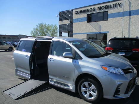New Wheelchair Van For Sale: 2020 Toyota Sienna LE Wheelchair Accessible Van For Sale with a BraunAbility Toyota BraunAbility Li on it. VIN: 5TDKZ3DC7LS064199