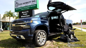 Used Wheelchair Van For Sale: 2019 Chevrolet Silverado High Country Wheelchair Accessible Van For Sale with a ATC Wheelchair Truck Conversions 1500 Chevy & GMC Trucks on it. VIN: 1GCPWFED2KZ191849