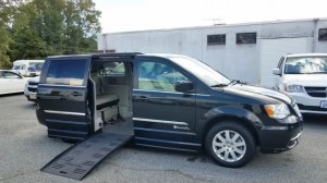 Used Wheelchair Van For Sale: 2015 Chrysler Town and Country Touring  Wheelchair Accessible Van For Sale with a BraunAbility - Chrysler Entervan II on it. VIN: 2C4RC1BG8FR565867