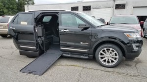 Used Wheelchair Van For Sale: 2016 Ford Explorer Limited  Wheelchair Accessible Van For Sale with a BraunAbility - MXV Wheelchair SUV on it. VIN: 1FM5K7F84GGC25430