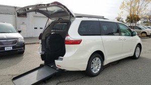New Wheelchair Van For Sale: 2017 Toyota Sienna XLE 8-Passenger  Wheelchair Accessible Van For Sale with a BraunAbility - Toyota Power Rear Entry on it. VIN: 5TDYZ3DC1HS885817