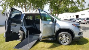 New Wheelchair Van For Sale: 2018 Honda Pilot EX-L Wheelchair Accessible Van For Sale with a VMI - Honda Pilot Northstar E360 on it. VIN: 5FNYF5H58JB005089