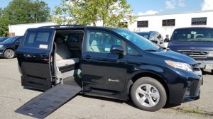 New Wheelchair Van For Sale: 2018 Toyota Sienna LE Wheelchair Accessible Van For Sale with a BraunAbility - Toyota Rampvan XL on it. VIN: 5TDKZ3DC9JS920678
