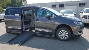 Used Wheelchair Van For Sale: 2019 Chrysler Pacifica Touring Wheelchair Accessible Van For Sale with a BraunAbility - Chrysler Pacifica Foldout XT on it. VIN: 2C4RC1BG8KR561425
