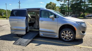 Used Wheelchair Van For Sale: 2017 Chrysler Pacifica Limited Wheelchair Accessible Van For Sale with a BraunAbility - Chrysler Entervan XT on it. VIN: 2C4RC1GG9HR798040