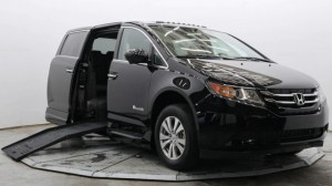 Used Wheelchair Van For Sale: 2016 Honda Odyssey EX-L Wheelchair Accessible Van For Sale with a BraunAbility - Honda Entervan II on it. VIN: 5FNRL5H64GB141234