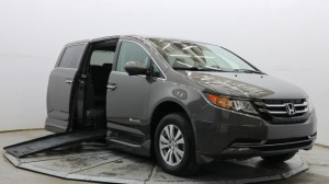Used Wheelchair Van For Sale: 2016 Honda Odyssey EX-L Wheelchair Accessible Van For Sale with a BraunAbility - Honda Entervan II on it. VIN: 5FNRL5H68GB065310