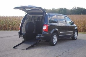 New Wheelchair Van For Sale: 2016 Chrysler Town & Country LE Wheelchair Accessible Van For Sale with a Touring Wheelchair Kneelvan™ on it. VIN: 2C4RC1BG7GR292972