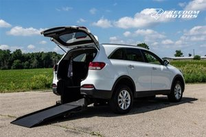 New Wheelchair Van For Sale: 2018 Kia Sorento  Wheelchair Accessible Van For Sale with a LX V6 on it. VIN: 5XYPG4A51JG354746