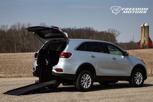 New Wheelchair Van For Sale: 2019 Kia Sorento  Wheelchair Accessible Van For Sale with a LX V6 on it. VIN: 5XYPG4A56KG446887