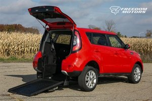 Used Wheelchair Van For Sale: 2019 Kia Soul + Wheelchair Accessible Van For Sale with a Automatic (No Kneel) Rear Entry Rear Entry 32 on it. VIN: KNDJP3A57K7697320