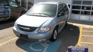 Used Wheelchair Van For Sale: 2003 Chrysler Town & Country Limited Wheelchair Accessible Van For Sale with a Non Branded - Full Size Van Conversion on it. VIN: 	2C8GPG4L33R157550