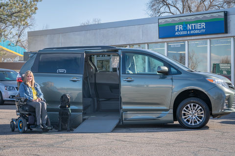 Used Wheelchair Van For Sale: 2019 Toyota Sienna XLE Wheelchair Accessible Van For Sale with a VMI - Toyota NorthstarAccess360 on it. VIN: 6TDYZ3DC8KS971858