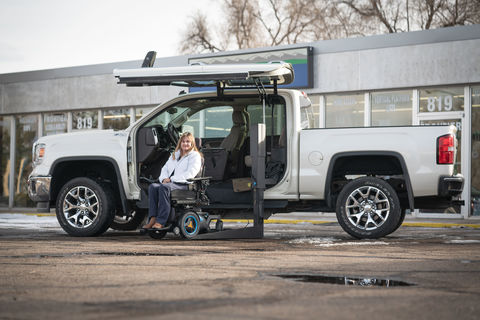 Used Wheelchair Van For Sale: 2014 GMC Sierra SLT Wheelchair Accessible Van For Sale with a ATC Wheelchair Truck Conversions - 1500 Chevy & GMC Trucks on it. VIN: 3GTU2VEC9EG135847