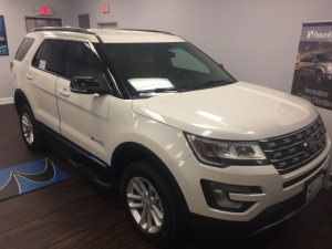 New Wheelchair Van For Sale: 2016 Ford Explorer LT Wheelchair Accessible Van For Sale with a BraunAbility MXV Wheelchair SUV on it. VIN: 1FM5K7D81GGC93672