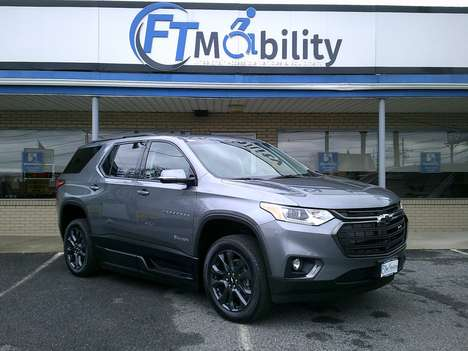 New Wheelchair Van For Sale: 2020 Chevrolet Traverse S Wheelchair Accessible Van For Sale with a BraunAbility BraunAbility Chevy Traverse - Wheelchair SUV on it. VIN: 1GNERJKWXLJ251780