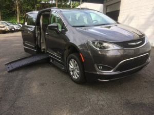 New Wheelchair Van For Sale: 2017 Chrysler Pacifica Touring Wheelchair Accessible Van For Sale with a BraunAbility BraunAbility Pacifica Foldout XT on it. VIN: 2C4RC1BG8HR777591