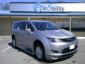 New Wheelchair Van For Sale: 2018 Chrysler Pacifica Touring Wheelchair Accessible Van For Sale with a BraunAbility Chrysler Entervan Xi Infloor on it. VIN: 2C4RC1FG1JR182906