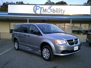 New Wheelchair Van For Sale: 2019 Dodge Grand Caravan SE Wheelchair Accessible Van For Sale with a BraunAbility Dodge Entervan XT on it. VIN: 2C7WDGBG0KR787433