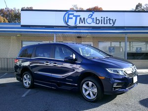 New Wheelchair Van For Sale: 2019 Honda Odyssey EX-L Wheelchair Accessible Van For Sale with a BraunAbility Honda Power Infloor on it. VIN: 5FNRL6H73KB113500