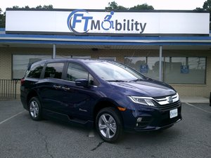 New Wheelchair Van For Sale: 2019 Honda Odyssey EX-L Wheelchair Accessible Van For Sale with a BraunAbility Honda Power lnfloor on it. VIN: 5FNRL6H73KB113836
