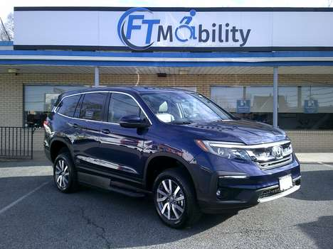 New Wheelchair Van For Sale: 2019 Honda Pilot EX Wheelchair Accessible Van For Sale with a VMI VMI Honda Pilot with Northstar E on it. VIN: 5FNYF5H3XKB000573