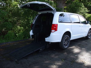 New Wheelchair Van For Sale: 2019 Dodge Grand Caravan SE Wheelchair Accessible Van For Sale with a BraunAbility Dodge Manual Rear Entry on it. VIN: 2C7WDGBG1KR526960