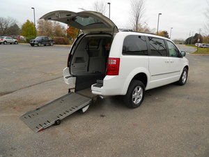 Used Wheelchair Van For Sale: 2010 Dodge Grand Caravan SXT Wheelchair Accessible Van For Sale with a AMS Dodge Edge Rear Entry on it. VIN: 2D4RN5D1XAR211273