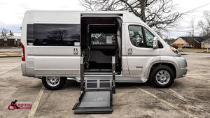 New Wheelchair Van For Sale: 2018 Ram Promaster High Roof Wheelchair Accessible Van For Sale with a TEMPEST Pro-Master Tempest X on it. VIN: 3C6TRVBG4JE146704